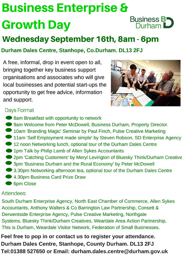 Business Enterprise & Growth Day - 16th September, 8am-6pm